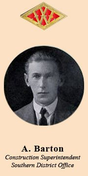 A Barton, who was construction supervisor for Southern Britain in the 1920s