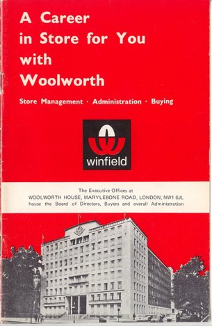 Management Careers booklet from Woolworths in 1967. Click the image to download a Adobe PDF of the brochure