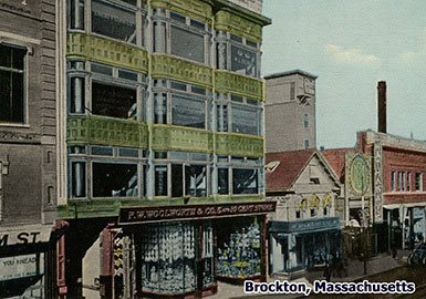 The E. P. Charlton store in Brockton, Massachusetts, which was sold to Frank Woolworth in 1899