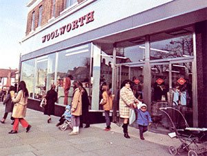 The F.W. Woolworth store at 152/154 Golders Green Road, London, NW11 pictured in 1971