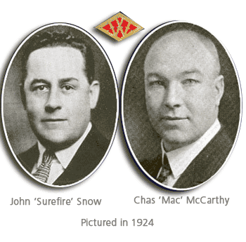 John B. Snow the F. W. Woolworth Superintendent of Buying with one of his most successful proteges, Charles M. McCarthy. The pictures were taken in 1924.