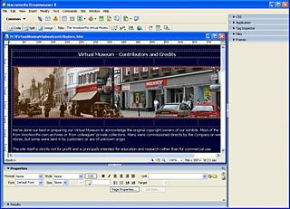 Constructing the Virtual Museum Interface in Adobe Dreamweaver