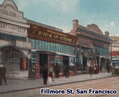 The fascia of the E.P. Charlton store in Fillmore Street, San Francisco was adapted to replace its founder's name with that of F. W. Woolworth - one of the sacrifices requires as part of the $65m merger of 1912.