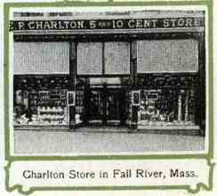 The first Charlton store in Fall River, Massachusetts - home base for the company and the Charlton family