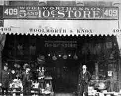 The Woolworth and Knox Five and Ten Cent store at 409 Main Street, Bufalo, pictured in around 1888